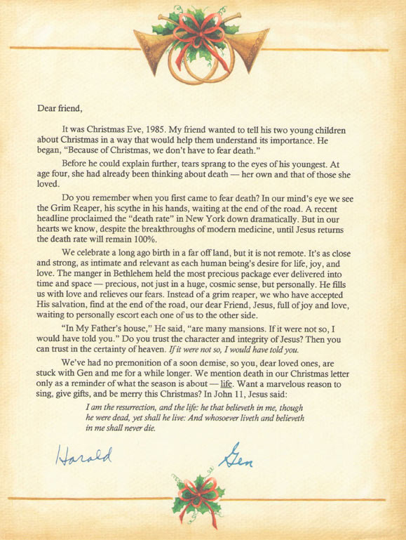 Harald's Last Christmas Letter